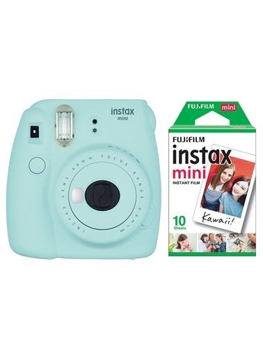 Fujifilm Instax Mini 9 Açık Mavi Fotoğraf Makinesi & 10'lu Film Mavi
